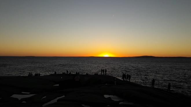 Sunset Peggys Cove, Nova Scotia