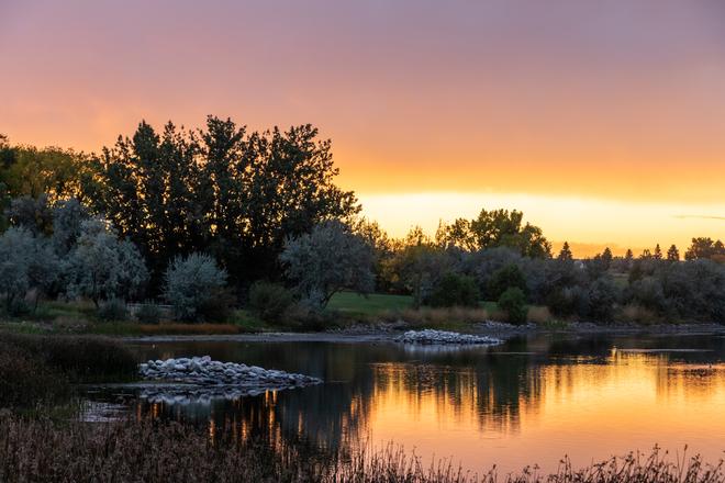 Sunset at Lake Stafford Brooks, Alberta, CA