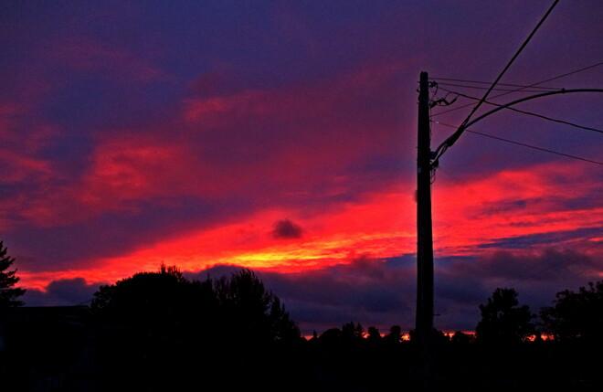 Red Sky at Night, Sailors' Delight Haileybury, Temiskaming Shores, Ontario