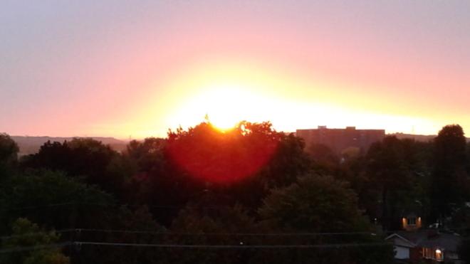 A glimps of the sunrising Ottawa, ON