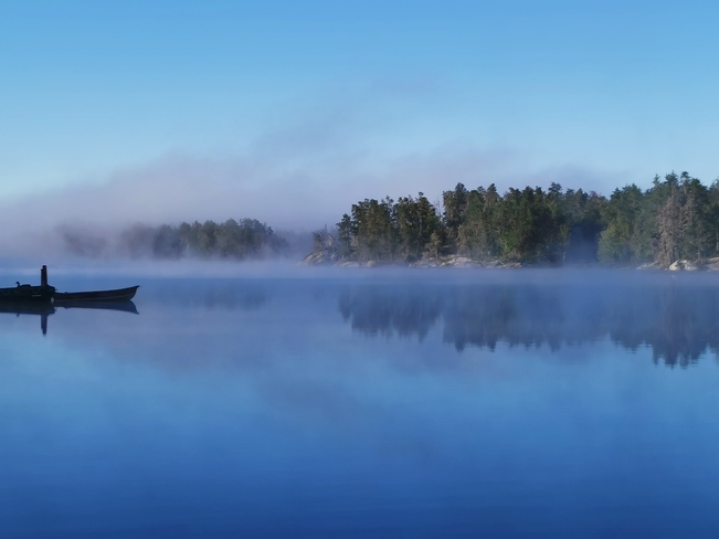 End of summer morning. Daoust Lake, Ontario
