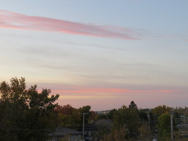 Pink and Mauve and +15 at dawn over Weyburn Weyburn, Saskatchewan