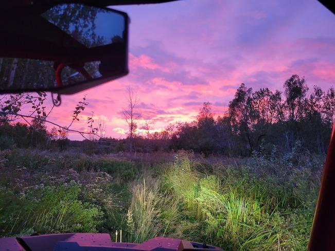 fall sky McFarlane Lake, ON