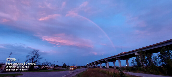 Rainbow at sunrise St. Catharines, ON