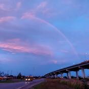 Rainbow at sunrise