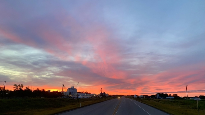 Red Sky Morning Bentley, Alberta, CA