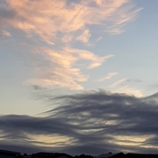 eerie looking cloud formation this morning