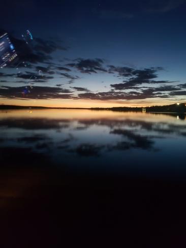Beautiful sunset Kenosee Lake, SK
