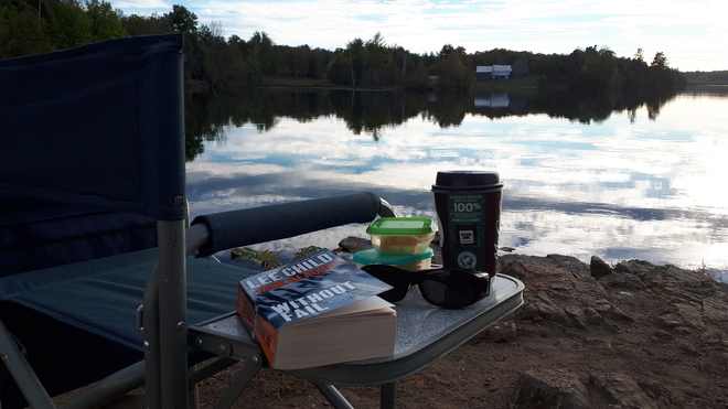 Relaxing at Silver Lake Maberly, ON