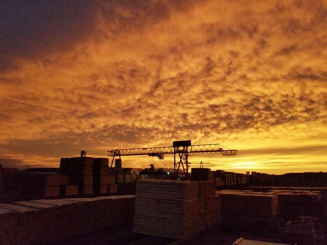 Fire Sunset Hearst, ON