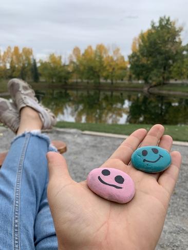 Feeling the pink rock Calgary, Alberta, CA