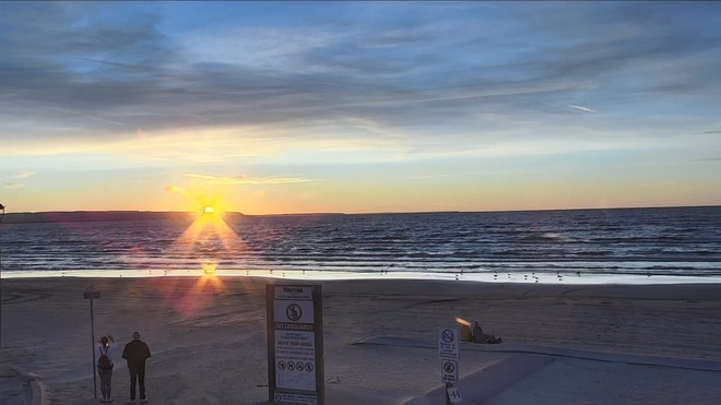 Sunset at the beach. Wasaga Beach, ON