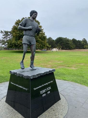 Terry Fox monument Victoria, British Columbia, CA