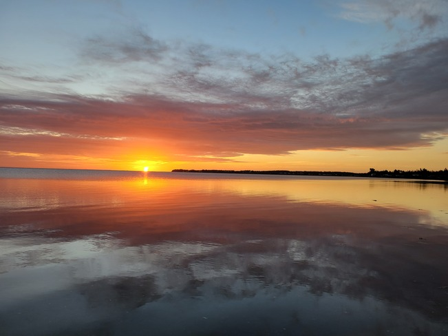 Mirrored sunrise Bouctouche, NB