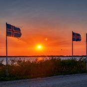 Sunset over marshland…