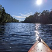 Kayaking on the Old Ausable Channel: Sept. 2021