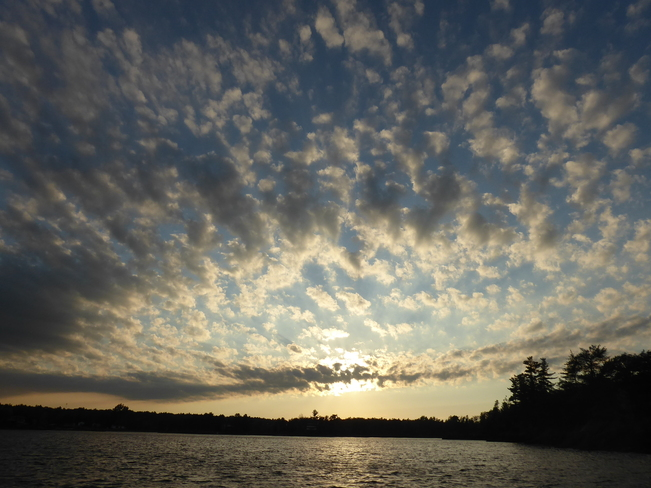 French River - Awesome evening sky French River, ON