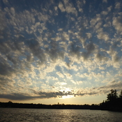 French River - Awesome evening sky