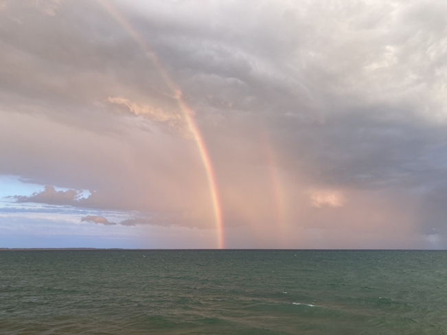 Double rainbow Wellington, Ontario, CA