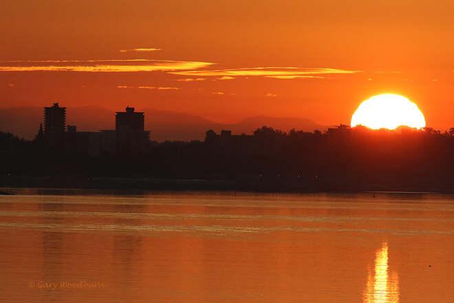 2021-09-25 - Good morning sunrise over the City of Victoria Victoria, BC