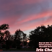 Sept 25 2021 7:17pm Good evening:)Beautiful pastel painting sunset in Thornhill
