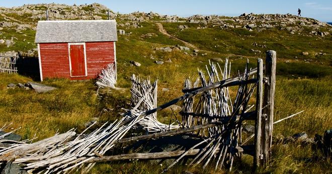 Old red shed Bonavista, Newfoundland and Labrador, CA