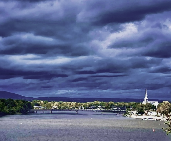 Storm clouds across the River Ottawa River Pathway, Rockcliffe, Ottawa, ON