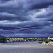Storm clouds across the River