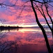 Sunrise over the lake!!