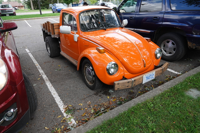 Retro fitting an older vehicle for a hobby Lakeview Park, Oshawa, Ont.