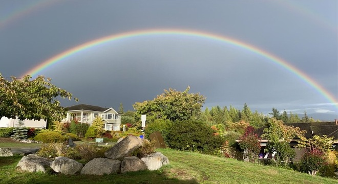 Rainbow over Sechelt BC North of Vancouver 9 27 2021 6289 Reeves Rd, Sechelt, BC V0N 3A7, Canada