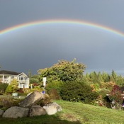 Rainbow over Sechelt BC North of Vancouver 9 27 2021