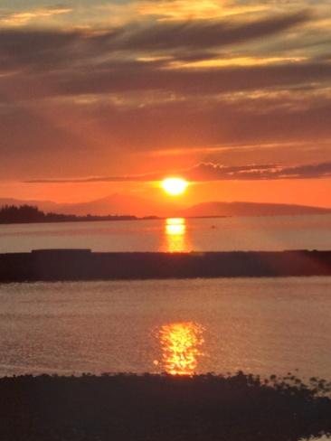 amazing sunset Parksville, BC