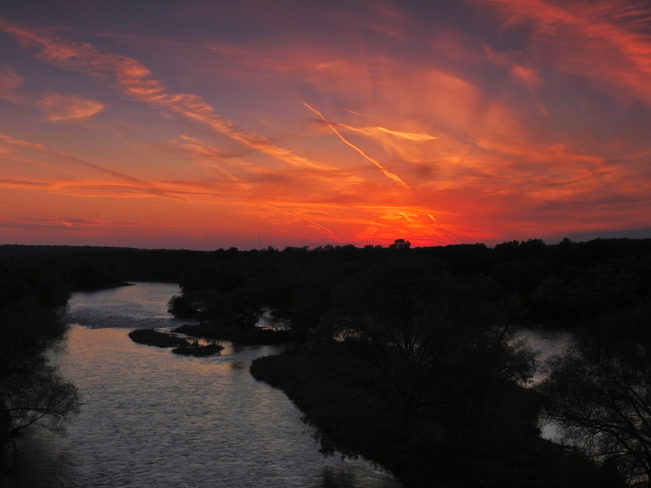 Sunset From Glen Morris Bridge Glen Morris Bridge, Brant, ON
