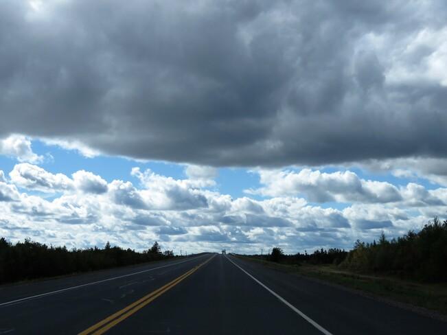 paysage nuageux Pointe-à-Bouleau, NB
