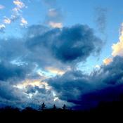 Bousculade nuageuse