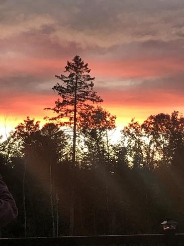 Beautiful sunset Uxbridge, Ontario, CA