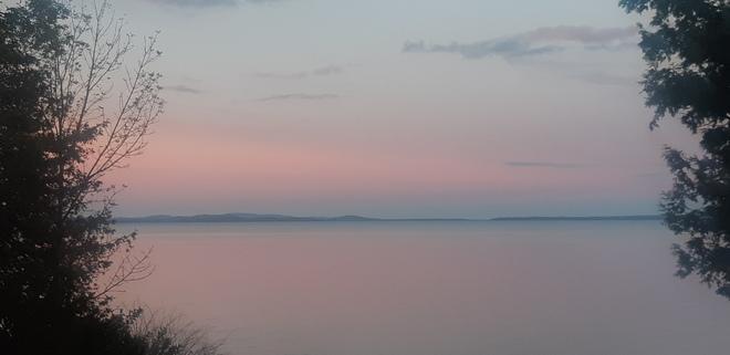 pink sunset Sheguiandah, ON