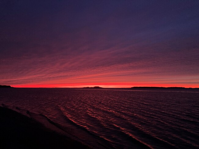 A vivid sunset Eastmain, Quebec, QC