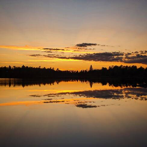 Sunset over the lake Quetico Provincial Park, ON