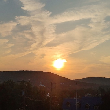 Coucher de soleil à Piedmont