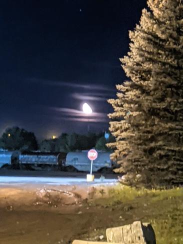 moon walking Sault Ste. Marie, ON