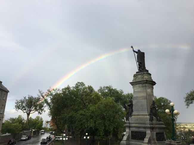 Double Rainbow! Quebec City, QC