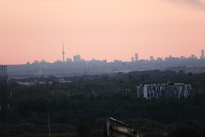 Skyline just after Sunset from Harmony Rd., North, Oshawa North Oshawa, Ont.