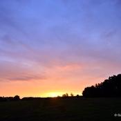 Rare humid sunrise over Eastern Brandenburg