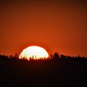 Coucher de soleil grandiose!