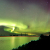 bright northern lights