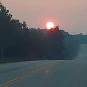 Smoke from Wildfires and Sunset in Port Elgin, ON