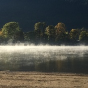 Fall mist in the West Arm