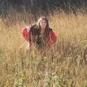 My daughter in the grass